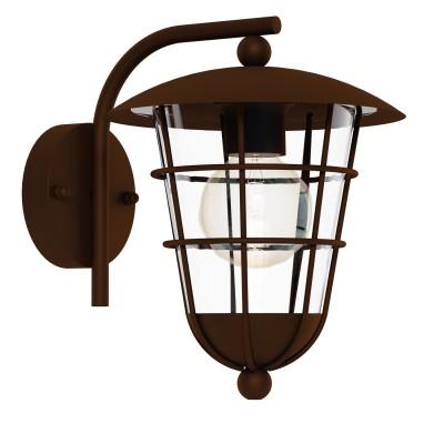 Eglo PULFERO 1 94855 светильник уличныйНастенные<br>Обеспечение качественного уличного освещения – важная задача для владельцев коттеджей. Компания «Светодом» предлагает современные светильники, которые порадуют Вас отличным исполнением. В нашем каталоге представлена продукция известных производителей, пользующихся популярностью благодаря высокому качеству выпускаемых товаров.   Уличный светильник Eglo 94855 не просто обеспечит качественное освещение, но и станет украшением Вашего участка. Модель выполнена из современных материалов и имеет влагозащитный корпус, благодаря которому ей не страшны осадки.   Купить уличный светильник Eglo 94855, представленный в нашем каталоге, можно с помощью онлайн-формы для заказа. Чтобы задать имеющиеся вопросы, звоните нам по указанным телефонам. Мы доставим Ваш заказ не только в Москву и Екатеринбург, но и другие города.<br><br>Тип лампы: Накаливания / энергосбережения / светодиодная<br>Тип цоколя: E27<br>MAX мощность ламп, Вт: 60<br>Длина, мм: 220<br>Расстояние от стены, мм: 280<br>Высота, мм: 280<br>Оттенок (цвет): прозрачный<br>Цвет арматуры: коричневый<br>Общая мощность, Вт: 2