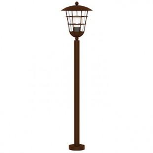 Eglo PULFERO 1 94857 светильник уличныйОдиночные столбы<br>Обеспечение качественного уличного освещения – важная задача для владельцев коттеджей. Компания «Светодом» предлагает современные светильники, которые порадуют Вас отличным исполнением. В нашем каталоге представлена продукция известных производителей, пользующихся популярностью благодаря высокому качеству выпускаемых товаров.   Уличный светильник Eglo 94857 не просто обеспечит качественное освещение, но и станет украшением Вашего участка. Модель выполнена из современных материалов и имеет влагозащитный корпус, благодаря которому ей не страшны осадки.   Купить уличный светильник Eglo 94857, представленный в нашем каталоге, можно с помощью онлайн-формы для заказа. Чтобы задать имеющиеся вопросы, звоните нам по указанным телефонам.<br><br>Тип лампы: Накаливания / энергосбережения / светодиодная<br>Тип цоколя: E27<br>MAX мощность ламп, Вт: 1X60W<br>Диаметр, мм мм: 220<br>Размеры основания, мм: 110<br>Высота, мм: 1020<br>Оттенок (цвет): прозрачный<br>Цвет арматуры: коричневый<br>Общая мощность, Вт: 2