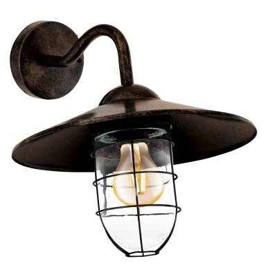 Eglo MELGOA 94863 светильник уличныйНастенные<br>Обеспечение качественного уличного освещения – важная задача для владельцев коттеджей. Компания «Светодом» предлагает современные светильники, которые порадуют Вас отличным исполнением. В нашем каталоге представлена продукция известных производителей, пользующихся популярностью благодаря высокому качеству выпускаемых товаров.   Уличный светильник Eglo 94863 не просто обеспечит качественное освещение, но и станет украшением Вашего участка. Модель выполнена из современных материалов и имеет влагозащитный корпус, благодаря которому ей не страшны осадки.   Купить уличный светильник Eglo 94863, представленный в нашем каталоге, можно с помощью онлайн-формы для заказа. Чтобы задать имеющиеся вопросы, звоните нам по указанным телефонам. Мы доставим Ваш заказ не только в Москву и Екатеринбург, но и другие города.<br><br>Тип лампы: Накаливания / энергосбережения / светодиодная<br>Тип цоколя: E27<br>MAX мощность ламп, Вт: 60<br>Длина, мм: 300<br>Расстояние от стены, мм: 380<br>Высота, мм: 250<br>Оттенок (цвет): прозрачный<br>Цвет арматуры: медный<br>Общая мощность, Вт: 2