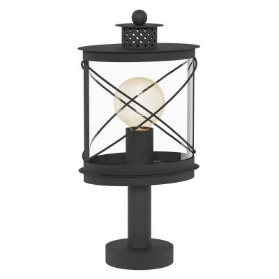 Eglo HILBURN 94864 светильник уличныйФонари на опору<br>Обеспечение качественного уличного освещения – важная задача для владельцев коттеджей. Компания «Светодом» предлагает современные светильники, которые порадуют Вас отличным исполнением. В нашем каталоге представлена продукция известных производителей, пользующихся популярностью благодаря высокому качеству выпускаемых товаров.   Уличный светильник Eglo 94864 не просто обеспечит качественное освещение, но и станет украшением Вашего участка. Модель выполнена из современных материалов и имеет влагозащитный корпус, благодаря которому ей не страшны осадки.   Купить уличный светильник Eglo 94864, представленный в нашем каталоге, можно с помощью онлайн-формы для заказа. Чтобы задать имеющиеся вопросы, звоните нам по указанным телефонам. Мы доставим Ваш заказ не только в Москву и Екатеринбург, но и другие города.<br><br>Тип лампы: Накаливания / энергосбережения / светодиодная<br>Тип цоколя: E27<br>Ширина, мм: 135<br>MAX мощность ламп, Вт: 60<br>Длина, мм: 200<br>Высота, мм: 410<br>Оттенок (цвет): прозрачный<br>Цвет арматуры: черный<br>Общая мощность, Вт: 2
