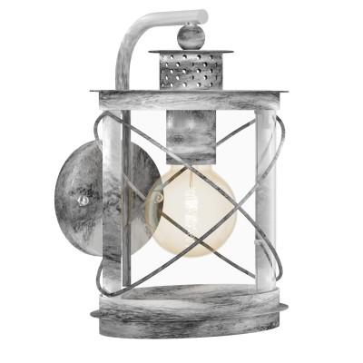 Eglo HILBURN 1 94866 светильник уличныйНастенные<br>Обеспечение качественного уличного освещения – важная задача для владельцев коттеджей. Компания «Светодом» предлагает современные светильники, которые порадуют Вас отличным исполнением. В нашем каталоге представлена продукция известных производителей, пользующихся популярностью благодаря высокому качеству выпускаемых товаров.   Уличный светильник Eglo 94866 не просто обеспечит качественное освещение, но и станет украшением Вашего участка. Модель выполнена из современных материалов и имеет влагозащитный корпус, благодаря которому ей не страшны осадки.   Купить уличный светильник Eglo 94866, представленный в нашем каталоге, можно с помощью онлайн-формы для заказа. Чтобы задать имеющиеся вопросы, звоните нам по указанным телефонам.<br><br>Тип лампы: Накаливания / энергосбережения / светодиодная<br>Тип цоколя: E27<br>MAX мощность ламп, Вт: 60<br>Длина, мм: 200<br>Расстояние от стены, мм: 200<br>Высота, мм: 280<br>Оттенок (цвет): прозрачный<br>Цвет арматуры: серебристый<br>Общая мощность, Вт: 2