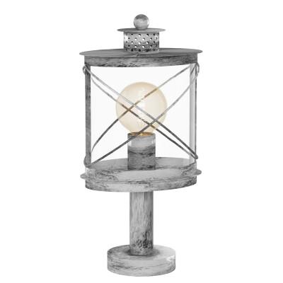 Eglo HILBURN 1 94867 светильник уличныйФонари на столб<br>Обеспечение качественного уличного освещения – важная задача для владельцев коттеджей. Компания «Светодом» предлагает современные светильники, которые порадуют Вас отличным исполнением. В нашем каталоге представлена продукция известных производителей, пользующихся популярностью благодаря высокому качеству выпускаемых товаров.   Уличный светильник Eglo 94867 не просто обеспечит качественное освещение, но и станет украшением Вашего участка. Модель выполнена из современных материалов и имеет влагозащитный корпус, благодаря которому ей не страшны осадки.   Купить уличный светильник Eglo 94867, представленный в нашем каталоге, можно с помощью онлайн-формы для заказа. Чтобы задать имеющиеся вопросы, звоните нам по указанным телефонам.<br><br>Тип лампы: Накаливания / энергосбережения / светодиодная<br>Тип цоколя: E27<br>Ширина, мм: 135<br>MAX мощность ламп, Вт: 60<br>Длина, мм: 200<br>Высота, мм: 410<br>Оттенок (цвет): прозрачный<br>Цвет арматуры: серебристый<br>Общая мощность, Вт: 2