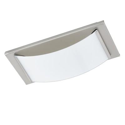 Eglo WASAO 1 94885 Светильник для ванной комнатыПрямоугольные<br>Светодиодный настенно-потолочный светильник WASAO 1, 1х5,4W (LED), 210х105, IP44, гальв. сталь, никель мат./стекло с покр., белый применяется преимущественно в домашнем освещении с использованием стандартных выключателей и переключателей для сетей 220V.<br><br>S освещ. до, м2: 2<br>Цветовая t, К: 3000<br>Тип лампы: LED - светодиодная<br>Тип цоколя: LED<br>Количество ламп: 1<br>MAX мощность ламп, Вт: 5<br>Глубина, мм: 60<br>Длина, мм: 105<br>Высота, мм: 210<br>Цвет арматуры: серебристый