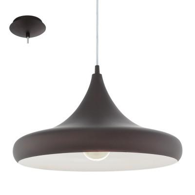 Eglo CORETTO 3 94892 Подвесной светильникодиночные подвесные светильники<br>Подвес CORETTO 3, 1x60W (E27), ?400, сталь, темно-коричневый, бежевый применяется преимущественно в домашнем освещении с использованием стандартных выключателей и переключателей для сетей 220V.<br><br>S освещ. до, м2: 3<br>Тип цоколя: E27<br>Цвет арматуры: темно-коричневый<br>Количество ламп: 1<br>Диаметр, мм мм: 400<br>Высота, мм: 1100<br>MAX мощность ламп, Вт: 60