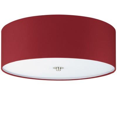 Eglo PASTERI 94923 Текстильный светильникПотолочные<br>Светильник потолочный PASTERI, 3х60W (E27), ?475, H195, никель матовый/текстиль, марсала применяется преимущественно в домашнем освещении с использованием стандартных выключателей и переключателей для сетей 220V.<br><br>Тип товара: Текстильный светильник<br>Тип цоколя: E27<br>Количество ламп: 3<br>MAX мощность ламп, Вт: 60<br>Диаметр, мм мм: 475<br>Глубина, мм: 195<br>Цвет арматуры: никель матовый