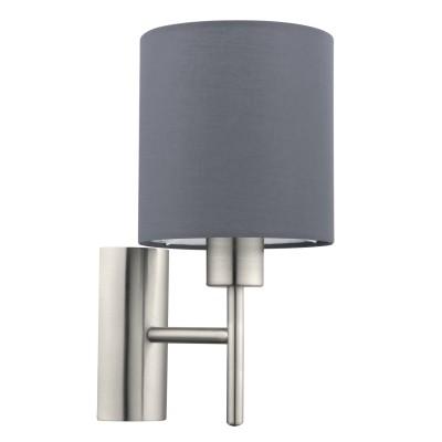 Eglo PASTERI 94926 Текстильный светильник браСовременные<br>Бра PASTERI, 1х60W (E27), L145, H305, A195, никель матовый/текстиль, серый применяется преимущественно в домашнем освещении с использованием стандартных выключателей и переключателей для сетей 220V.<br><br>Тип цоколя: E27<br>Цвет арматуры: серебристый<br>Количество ламп: 1<br>Глубина, мм: 195<br>Длина, мм: 145<br>Высота, мм: 305<br>MAX мощность ламп, Вт: 60