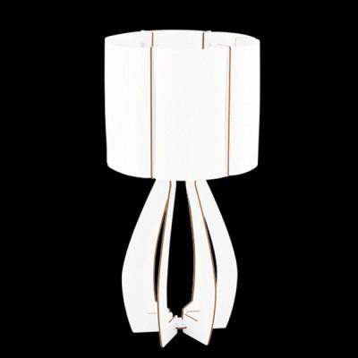 Eglo COSSANO 94948 Настольная лампаСовременные<br>Настольная лампа COSSANO, 1x60W (E27), ?225, H450, дерево, белый/пластик, белый применяется преимущественно в домашнем освещении с использованием стандартных выключателей и переключателей для сетей 220V.<br><br>Тип цоколя: E27<br>Количество ламп: 1<br>MAX мощность ламп, Вт: 60<br>Диаметр, мм мм: 225<br>Высота, мм: 450<br>Цвет арматуры: белый
