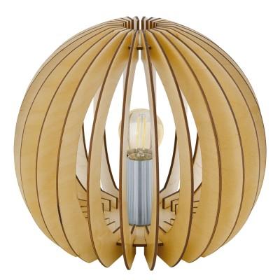 Eglo COSSANO 94953 Настольная лампаНастольные лампы в восточном стиле<br>Настольная лампа COSSANO, 1x60W (E27), ?260, H220, дерево, клен/пластик, белый применяется преимущественно в домашнем освещении с использованием стандартных выключателей и переключателей для сетей 220V.<br><br>Тип цоколя: E27<br>Цвет арматуры: деревянный<br>Количество ламп: 1<br>Диаметр, мм мм: 260<br>Высота, мм: 220<br>MAX мощность ламп, Вт: 60