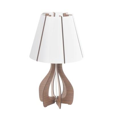 Eglo COSSANO 94954 Настольная лампаСовременные<br>Настольная лампа COSSANO, 1x60W (E27), ?225, H450, дерево, коричневый/пластик, белый применяется преимущественно в домашнем освещении с использованием стандартных выключателей и переключателей для сетей 220V.<br><br>Тип цоколя: E27<br>Цвет арматуры: коричневый<br>Количество ламп: 1<br>Диаметр, мм мм: 255<br>Высота, мм: 450<br>MAX мощность ламп, Вт: 60