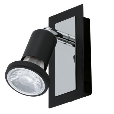 Eglo SARRIA 94963 Светодиодный спотодиночные споты<br>Светодиодный спот SARRIA, 1x5W (GU10), L120, B60, сталь, черный, хром применяется преимущественно в домашнем освещении с использованием стандартных выключателей и переключателей для сетей 220V.<br><br>S освещ. до, м2: 2<br>Тип лампы: LED - светодиодная<br>Тип цоколя: GU10<br>Цвет арматуры: черный, хром<br>Количество ламп: 1<br>Ширина, мм: 60<br>Длина, мм: 120<br>MAX мощность ламп, Вт: 5