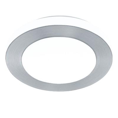 Eglo LED CARPI 94967 Светильник для ванной комнатыДля ванной<br>Светодиодный настенно-потолочный светильник LED CARPI, 11W (LED), ?300, IP44, сталь, алюминий, алюм. чесаный/пластик, белый применяется преимущественно в домашнем освещении с использованием стандартных выключателей и переключателей для сетей 220V.<br><br>Цветовая t, К: 3000<br>Тип лампы: LED - светодиодная<br>Тип цоколя: LED<br>Цвет арматуры: белый, aлюминий чесаный<br>Количество ламп: 1<br>Диаметр, мм мм: 300<br>Глубина, мм: 75<br>MAX мощность ламп, Вт: 11