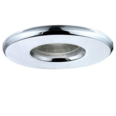 Eglo IGOA 94975 Светильник для ванной комнатыКруглые<br>Светодиодный встраиваемый светильник IGOA, 1x3,3W (GU10), ?85, IP44,  литой металл, хром применяется преимущественно в домашнем освещении с использованием стандартных выключателей и переключателей для сетей 220V.<br><br>Тип лампы: LED - светодиодная<br>Тип цоколя: GU10<br>Количество ламп: 1<br>MAX мощность ламп, Вт: 3<br>Диаметр, мм мм: 85<br>Цвет арматуры: серебристый хром