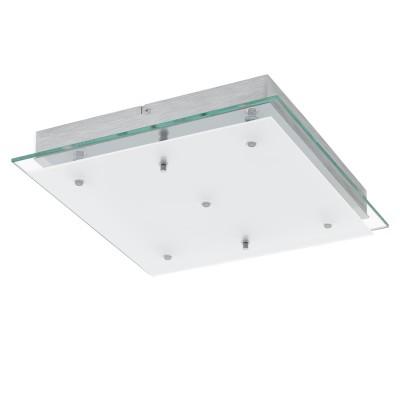 Eglo FRES 2 94986 Светильник для ванной комнатыквадратные светильники<br>Светодиодный настенно-потолочный светильник FRES 2, 5x5,4W (GU10), L380, B380, H70, IP44, сталь, хром/стекло, сатин. стекло, прозрачный, белый применяется преимущественно в домашнем освещении с использованием стандартных выключателей и переключателей для сетей 220V.<br><br>S освещ. до, м2: 10<br>Цветовая t, К: 3000<br>Тип лампы: LED - светодиодная<br>Тип цоколя: LED<br>Цвет арматуры: серебристый<br>Количество ламп: 5<br>Ширина, мм: 380<br>Длина, мм: 380<br>Высота, мм: 70<br>MAX мощность ламп, Вт: 5