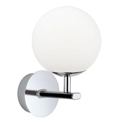 Eglo PALERMO 94991 Светильник для ванной комнатыСовременные<br>Светодиодное бра PALERMO, 1x2,5W (G9), L120, H205, A155, IP44, сталь, хром/опаловое стекло, белый применяется преимущественно в домашнем освещении с использованием стандартных выключателей и переключателей для сетей 220V.<br><br>Тип лампы: LED - светодиодная<br>Тип цоколя: G9<br>Количество ламп: 1<br>MAX мощность ламп, Вт: 3<br>Глубина, мм: 155<br>Длина, мм: 120<br>Высота, мм: 205<br>Цвет арматуры: серебристый хром