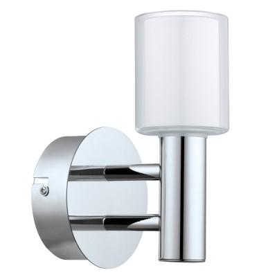 Eglo PALERMO 1 94993 Светильник для ванной комнатыМодерн<br>Светодиодное бра PALERMO 1, 1x2,5W (G9), L110, H180, A130, IP44, сталь, хром/стекло, белый, прозрачный применяется преимущественно в домашнем освещении с использованием стандартных выключателей и переключателей для сетей 220V.<br><br>Тип товара: Светильник для ванной комнаты<br>Тип лампы: LED - светодиодная<br>Тип цоколя: G9<br>Количество ламп: 1<br>MAX мощность ламп, Вт: 3<br>Глубина, мм: 130<br>Длина, мм: 110<br>Высота, мм: 180<br>Цвет арматуры: серебристый хром