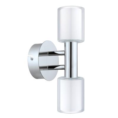 Eglo PALERMO 1 94994 Светильник для ванной комнатыХай-тек<br>Светодиодное бра PALERMO 1, 2x2,5W (G9), L110, H270, A130, IP44, сталь, хром/стекло, белый, прозрачный применяется преимущественно в домашнем освещении с использованием стандартных выключателей и переключателей для сетей 220V.<br><br>Тип лампы: LED - светодиодная<br>Тип цоколя: G9<br>Количество ламп: 2<br>MAX мощность ламп, Вт: 3<br>Глубина, мм: 130<br>Длина, мм: 110<br>Высота, мм: 270<br>Цвет арматуры: серебристый хром