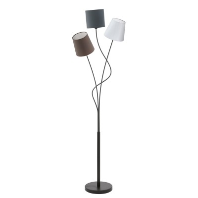 Eglo MARONDA 94995 Торшер напольныйСовременные<br>Торшер MARONDA с ножн. выкл., 3х40W (E14), L275, H1520, сталь, черный/текстиль, стекло, антрацит, белый, коричневый применяется преимущественно в домашнем освещении с использованием стандартных выключателей и переключателей для сетей 220V.<br><br>Тип цоколя: E14<br>Количество ламп: 3<br>Ширина, мм: 35<br>MAX мощность ламп, Вт: 40<br>Длина, мм: 275<br>Высота, мм: 1520<br>Цвет арматуры: черный