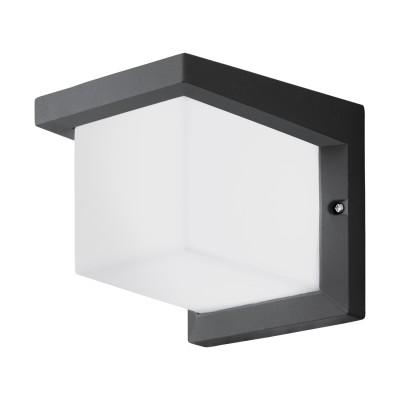 Eglo DESELLA  1 95097 Уличный светодиодный настенный светильникНастенные<br>Обеспечение качественного уличного освещения – важная задача для владельцев коттеджей. Компания «Светодом» предлагает современные светильники, которые порадуют Вас отличным исполнением. В нашем каталоге представлена продукция известных производителей, пользующихся популярностью благодаря высокому качеству выпускаемых товаров.   Уличный светильник Eglo 95097 не просто обеспечит качественное освещение, но и станет украшением Вашего участка. Модель выполнена из современных материалов и имеет влагозащитный корпус, благодаря которому ей не страшны осадки.   Купить уличный светильник Eglo 95097, представленный в нашем каталоге, можно с помощью онлайн-формы для заказа. Чтобы задать имеющиеся вопросы, звоните нам по указанным телефонам.<br><br>Цветовая t, К: 3000<br>Тип цоколя: LED - светодиодная<br>Цвет арматуры: антрацит<br>Глубина, мм: 190<br>Длина, мм: 160<br>Высота, мм: 160<br>MAX мощность ламп, Вт: 10W