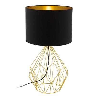 Eglo PEDREGAL 1 95186 Настольная лампаСовременные<br>Настольная лампа PEDREGAL, 1х60W (E27), ?350, H645, сталь, латунь/ткань, черный, золотой применяется преимущественно в домашнем освещении с использованием стандартных выключателей и переключателей для сетей 220V.<br><br>Тип товара: Настольная лампа<br>Тип цоколя: E27<br>Количество ламп: 1<br>MAX мощность ламп, Вт: 60<br>Диаметр, мм мм: 350<br>Высота, мм: 645<br>Цвет арматуры: латунь