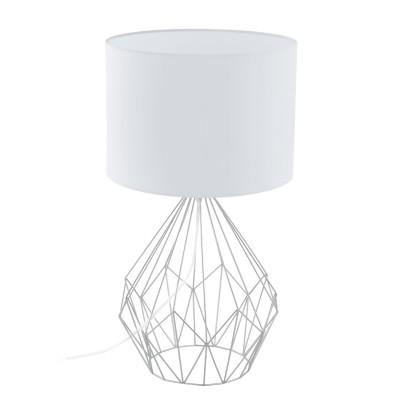Eglo PEDREGAL 1 95187 Настольная лампаСовременные<br>Настольная лампа PEDREGAL, 1х60W (E27), ?350, H645, сталь, хром/ткань, белый применяется преимущественно в домашнем освещении с использованием стандартных выключателей и переключателей для сетей 220V.<br><br>Тип цоколя: E27<br>Цвет арматуры: серебристый хром<br>Количество ламп: 1<br>Диаметр, мм мм: 350<br>Высота, мм: 645<br>MAX мощность ламп, Вт: 60