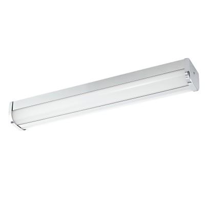 Eglo MELATO 95214 Светильник для ванной комнатыбра для ванной<br>Светодиодная подсветка для зеркал MELATO, 16W (LED), L600, B95, IP44, литой металл, хром/пластик, белый применяется преимущественно в домашнем освещении с использованием стандартных выключателей и переключателей для сетей 220V.<br><br>Цветовая t, К: 4000<br>Тип лампы: LED - светодиодная<br>Тип цоколя: LED<br>Цвет арматуры: серебристый<br>Количество ламп: 1<br>Ширина, мм: 95<br>Длина, мм: 600<br>Высота, мм: 70<br>MAX мощность ламп, Вт: 16