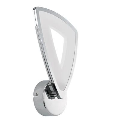 Eglo AMONDE 95222 Настенно-потолочный светильникХай-тек<br>Cветодиодное бра AMONDE, 1x6W (LED), L160, H285, литой алюминий, хром/пластик, матовый применяется преимущественно в домашнем освещении с использованием стандартных выключателей и переключателей для сетей 220V.<br><br>Тип товара: Настенно-потолочный светильник<br>Цветовая t, К: 3000<br>Тип лампы: LED - светодиодная<br>Тип цоколя: LED<br>Количество ламп: 1<br>MAX мощность ламп, Вт: 6<br>Глубина, мм: 60<br>Длина, мм: 160<br>Высота, мм: 285<br>Цвет арматуры: серебристый хром