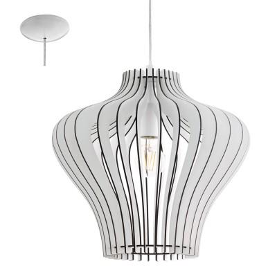 Eglo COSSANO 2 95253 Подвесной светильникодиночные подвесные светильники<br>Подвес COSSANO 2, 1x60W (E27), ?380, H1500, сталь, белый/дерево, белый применяется преимущественно в домашнем освещении с использованием стандартных выключателей и переключателей для сетей 220V.<br><br>S освещ. до, м2: 3<br>Тип цоколя: E27<br>Цвет арматуры: белый<br>Количество ламп: 1<br>Диаметр, мм мм: 380<br>Высота, мм: 1100<br>MAX мощность ламп, Вт: 60