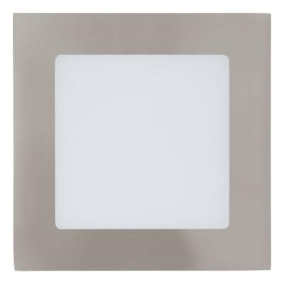 Eglo FUEVA 1 95276 Встраиваемый светильникКвадратные LED<br>Светодиодная ультратонкая встраиваемая панель FUEVA 1, 5,5W (LED) 4000K, 120х120, никель применяется преимущественно в домашнем освещении с использованием стандартных выключателей и переключателей для сетей 220V.<br><br>Цветовая t, К: 4000<br>Тип лампы: LED - светодиодная<br>Тип цоколя: LED<br>Количество ламп: 1<br>Ширина, мм: 120<br>MAX мощность ламп, Вт: 6<br>Длина, мм: 120<br>Цвет арматуры: серебристый