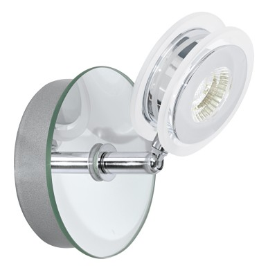 Eglo AGUEDA 95277 Светильник для ванной комнатыДля ванной<br>Светодиодный спот AGUEDA, 1х3,3W (LED), ?95, IP44, cталь, стекло, хром, прозрачный применяется преимущественно в домашнем освещении с использованием стандартных выключателей и переключателей для сетей 220V.<br><br>Цветовая t, К: 3000<br>Тип лампы: LED - светодиодная<br>Тип цоколя: LED<br>Количество ламп: 1<br>MAX мощность ламп, Вт: 3<br>Диаметр, мм мм: 95<br>Цвет арматуры: серебристый хром
