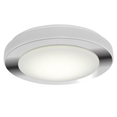 Светильник для ванной комнаты Eglo 95283 LED CARPIкруглые светильники<br>Светодиодный настенно-потол. светильник LED CARPI, 16W (LED), ?385, IP44, сталь, хром, белый/пластик, белый применяется преимущественно в домашнем освещении с использованием стандартных выключателей и переключателей для сетей 220V.