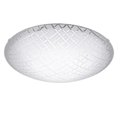 Eglo RICONTO 1 95288 Настенно-потолочный светильникКруглые<br>Светодиодный настенно-потолочный светильник RICONTO 1, 11W (LED), ?315, сталь, белый/рифленое стекло, белый, прозрачный применяется преимущественно в домашнем освещении с использованием стандартных выключателей и переключателей для сетей 220V.<br><br>S освещ. до, м2: 6<br>Цветовая t, К: 3000<br>Тип лампы: LED - светодиодная<br>Тип цоколя: LED<br>Количество ламп: 1<br>MAX мощность ламп, Вт: 16<br>Диаметр, мм мм: 315<br>Глубина, мм: 95<br>Цвет арматуры: белый