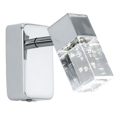 Eglo CANTIL 95292 Светодиодный спотСовременные<br>Светодиодный спот CANTIL, 1x3,3(LED), L60, сталь, хром/пластик, прозрачный применяется преимущественно в домашнем освещении с использованием стандартных выключателей и переключателей для сетей 220V.<br><br>Цветовая t, К: 3000<br>Тип лампы: LED - светодиодная<br>Тип цоколя: LED<br>Количество ламп: 1<br>MAX мощность ламп, Вт: 3<br>Длина, мм: 60<br>Высота, мм: 100<br>Цвет арматуры: серебристый хром