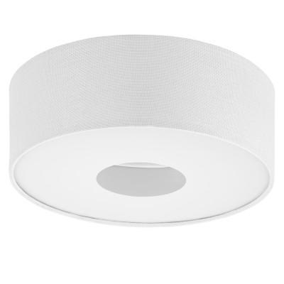 Eglo ROMAO 1 95327 Настенно-потолочный светильник LEDПотолочные<br>Светодиодный потолочный светильник ROMAO 1 с димм., 15,5W (LED), ?350, сталь, пластик, белый/текстиль, белый применяется преимущественно в домашнем освещении с использованием стандартных выключателей и переключателей для сетей 220V.<br><br>Установка на натяжной потолок: Да<br>S освещ. до, м2: 6<br>Цветовая t, К: 3000<br>Тип лампы: LED - светодиодная<br>Тип цоколя: LED<br>Цвет арматуры: белый<br>Количество ламп: 1<br>Диаметр, мм мм: 350<br>Высота, мм: 150<br>MAX мощность ламп, Вт: 16