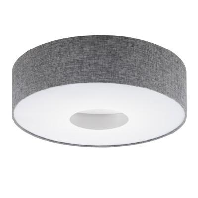 Eglo ROMAO 95346 Настенно-потолочный светильник LEDсовременные потолочные люстры модерн<br>Светодиодный потолочный светильник ROMAO с димм., 24W (LED), ?500, сталь, никель мат., хром/текстиль, серый применяется преимущественно в домашнем освещении с использованием стандартных выключателей и переключателей для сетей 220V.<br><br>S освещ. до, м2: 10<br>Цветовая t, К: 3000<br>Тип лампы: LED-светодиодная<br>Тип цоколя: LED<br>Цвет арматуры: белый<br>Количество ламп: 1<br>Диаметр, мм мм: 500<br>Высота, мм: 160<br>MAX мощность ламп, Вт: 24