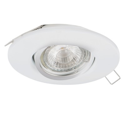Eglo TEDO 1 95354 Встраиваемый светильникКруглые<br>Светодиодный встраиваемый светильник TEDO с рег-кой, 1х5W (GU10), ?80, литой алюминий, белый применяется преимущественно в домашнем освещении с использованием стандартных выключателей и переключателей для сетей 220V.<br><br>Тип лампы: LED - светодиодная<br>Тип цоколя: GU10<br>Количество ламп: 1<br>MAX мощность ламп, Вт: 5<br>Диаметр, мм мм: 80<br>Цвет арматуры: белый