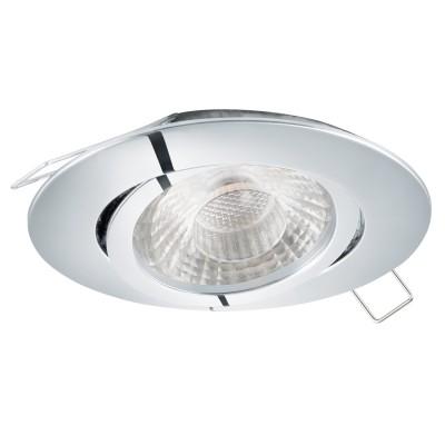 Eglo TEDO 1 95355 Встраиваемый светильникКруглые LED<br>Светодиодный встраиваемый светильник TEDO с рег-кой, 1х5W (GU10), ?80, литой алюминий, хром применяется преимущественно в домашнем освещении с использованием стандартных выключателей и переключателей для сетей 220V.<br><br>Тип лампы: LED - светодиодная<br>Тип цоколя: GU10<br>Количество ламп: 1<br>MAX мощность ламп, Вт: 5<br>Диаметр, мм мм: 80<br>Цвет арматуры: серебристый