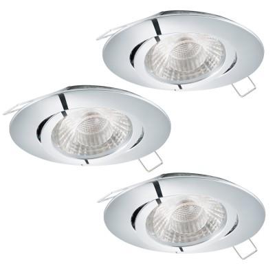 Eglo TEDO 1 95358 Встраиваемый светильникКруглые LED<br>Комплект Светодиодный встраив. светильников TEDO регулир. с димм., 3х5W(GU10), ?80, алюминий, хром применяется преимущественно в домашнем освещении с использованием стандартных выключателей и переключателей для сетей 220V.<br><br>Тип лампы: LED - светодиодная<br>Тип цоколя: GU10<br>Количество ламп: 3<br>MAX мощность ламп, Вт: 5<br>Диаметр, мм мм: 80<br>Цвет арматуры: серебристый хром