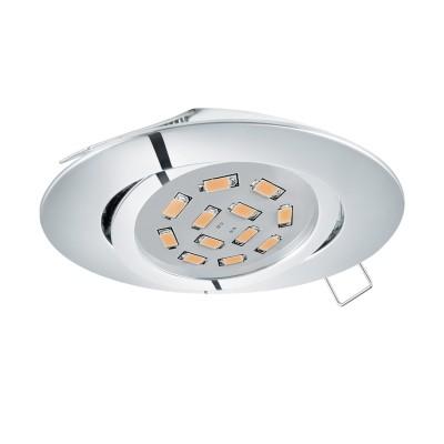 Eglo TEDO 95361 Встраиваемый светильникКруглые<br>Светодиодный встраиваемый светильник TEDO, 1х5W (GU10), ?80, литой алюминий, хром применяется преимущественно в домашнем освещении с использованием стандартных выключателей и переключателей для сетей 220V.<br><br>Тип лампы: LED - светодиодная<br>Тип цоколя: GU10<br>Цвет арматуры: хром<br>Количество ламп: 1<br>Диаметр, мм мм: 80<br>MAX мощность ламп, Вт: 5