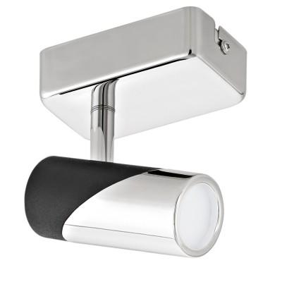 Eglo BERNEDO 95435 Светильник спотОдиночные<br>Светодиодный cпот BERNEDO, 1х5W(LED), L60, H100, алюминий, сталь, хром, черный применяется преимущественно в домашнем освещении с использованием стандартных выключателей и переключателей для сетей 220V.<br><br>Цветовая t, К: 3000<br>Тип лампы: LED - светодиодная<br>Тип цоколя: LED<br>Количество ламп: 1<br>MAX мощность ламп, Вт: 5<br>Длина, мм: 60<br>Высота, мм: 100<br>Цвет арматуры: серебристый хром, черный