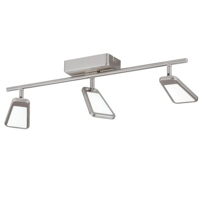 Eglo ALCAMO 95451 Светильник спотТройные<br>Светодиодный cпот ALCAMO, 3х5,4W(LED), L580, алюминий, сталь, никель матовый применяется преимущественно в домашнем освещении с использованием стандартных выключателей и переключателей для сетей 220V.<br><br>Цветовая t, К: 3000<br>Тип лампы: LED - светодиодная<br>Тип цоколя: LED<br>Количество ламп: 3<br>Ширина, мм: 70<br>MAX мощность ламп, Вт: 5<br>Длина, мм: 580<br>Цвет арматуры: серебристый
