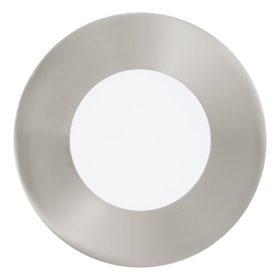 Eglo FUEVA 1 95465 Встраиваемый светильникСветодиодные круглые светильники<br>Светодиодная ультратонкая встраиваемая панель FUEVA 1, 2,7W (LED) 4000K, ?85, никель применяется преимущественно в домашнем освещении с использованием стандартных выключателей и переключателей для сетей 220V.<br><br>Цветовая t, К: 4000<br>Тип лампы: LED - светодиодная<br>Тип цоколя: LED<br>Цвет арматуры: серебристый<br>Количество ламп: 1<br>Диаметр, мм мм: 85<br>MAX мощность ламп, Вт: 3