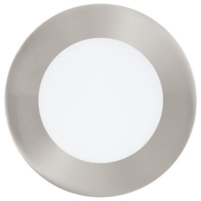 Eglo FUEVA 1 95467 Встраиваемый светильникКруглые LED<br>Светодиодная ультратонкая встраиваемая панель FUEVA 1, 5,5W (LED) 4000K, ?120, никель применяется преимущественно в домашнем освещении с использованием стандартных выключателей и переключателей для сетей 220V.<br><br>Тип товара: Встраиваемый светильник<br>Цветовая t, К: 4000<br>Тип лампы: LED - светодиодная<br>Тип цоколя: LED<br>Количество ламп: 1<br>MAX мощность ламп, Вт: 6<br>Диаметр, мм мм: 120<br>Цвет арматуры: никель матовый