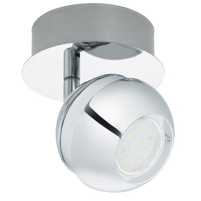 Eglo NOCITO 1 95477 Светодиодный спотОдиночные<br>Светодиодный спот NOCITO 1, 1x3,3W(GU10), ?110, сталь, хром, белый  применяется преимущественно в домашнем освещении с использованием стандартных выключателей и переключателей для сетей 220V.<br><br>S освещ. до, м2: 2<br>Тип лампы: LED - светодиодная<br>Тип цоколя: GU10<br>Цвет арматуры: серебристый хром, белый<br>Количество ламп: 1<br>Диаметр, мм мм: 110<br>MAX мощность ламп, Вт: 4