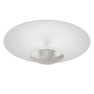 Eglo TORONJA 95486 Настенно-потолочный светильник LEDКруглые<br>Светодиодный потолочный светильник TORONJA, 24W(LED), ?550, сталь, белый, никель матовый применяется преимущественно в домашнем освещении с использованием стандартных выключателей и переключателей для сетей 220V.<br><br>S освещ. до, м2: 10<br>Цветовая t, К: 3000<br>Тип лампы: LED - светодиодная<br>Тип цоколя: LED<br>Цвет арматуры: серебристый<br>Количество ламп: 1<br>Диаметр, мм мм: 550<br>Высота, мм: 205<br>MAX мощность ламп, Вт: 24