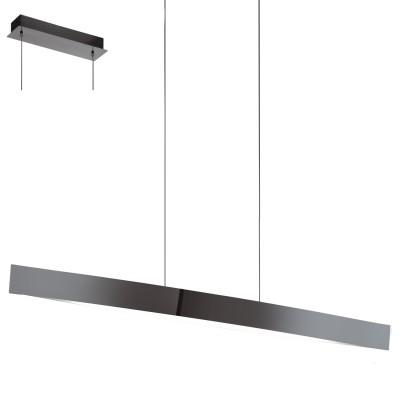 Eglo FORNES-S 95549 Подвесной светильникподвесные светодиодные светильники<br>Светодиодный подвес FORNES-S Умное освещ., 24W(LED), L970, H1500, сталь, черный никель применяется преимущественно в домашнем освещении с использованием стандартных выключателей и переключателей для сетей 220V.<br><br>S освещ. до, м2: 10<br>Цветовая t, К: 2765<br>Тип лампы: LED - светодиодная<br>Тип цоколя: LED<br>Цвет арматуры: серебристый черный<br>Количество ламп: 1<br>Ширина, мм: 85<br>Длина, мм: 970<br>Высота, мм: 1500<br>MAX мощность ламп, Вт: 24