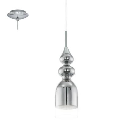 Eglo BOLANOS 95555 Подвесной светильникОдиночные<br>Светодиодный подвес BOLANOS, 1х3,3W(LED), ?120, сталь, хром/стекло, хром, прозрачный применяется преимущественно в домашнем освещении с использованием стандартных выключателей и переключателей для сетей 220V.<br><br>S освещ. до, м2: 1<br>Тип лампы: LED - светодиодная<br>Тип цоколя: GU10<br>Количество ламп: 1<br>MAX мощность ламп, Вт: 4<br>Диаметр, мм мм: 120<br>Высота, мм: 1100<br>Цвет арматуры: серебристый хром
