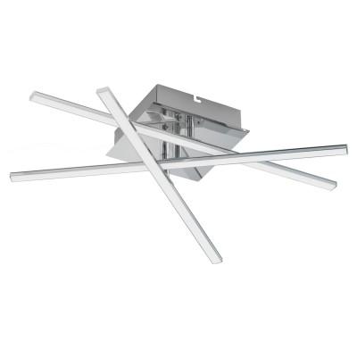 Eglo LASANA 1 95567 Настенно-потолочный светильникПотолочные<br>Светодиодный настенно-потолочный светильник LASANA 1 c рег-кой, 18W(LED), L550, сталь, хром/пластик, белый применяется преимущественно в домашнем освещении с использованием стандартных выключателей и переключателей для сетей 220V.<br><br>Установка на натяжной потолок: Да<br>S освещ. до, м2: 1<br>Крепление: Планка<br>Цветовая t, К: 3000<br>Тип лампы: LED - светодиодная<br>Тип цоколя: LED<br>Количество ламп: 1<br>Ширина, мм: 160<br>MAX мощность ламп, Вт: 18<br>Длина, мм: 500<br>Высота, мм: 95<br>Цвет арматуры: серебристый