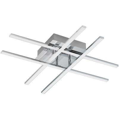 Eglo LASANA 1 95568 Настенно-потолочный светильникПотолочные<br>Светодиодная люстра LASANA 1, 24W (LED), L550, B500, сталь, хром/пластик, белый применяется преимущественно в домашнем освещении с использованием стандартных выключателей и переключателей для сетей 220V.<br><br>Установка на натяжной потолок: Да<br>S освещ. до, м2: 1<br>Крепление: Планка<br>Тип товара: Настенно-потолочный светильник<br>Цветовая t, К: 3000<br>Тип лампы: LED - светодиодная<br>Тип цоколя: LED<br>Количество ламп: 1<br>Ширина, мм: 500<br>MAX мощность ламп, Вт: 24<br>Длина, мм: 500<br>Высота, мм: 95<br>Цвет арматуры: серебристый
