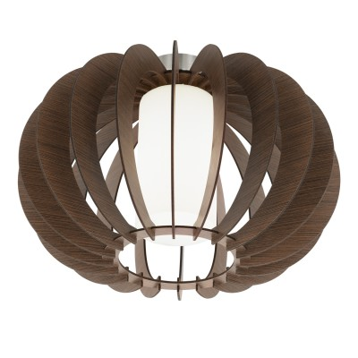 Eglo STELLATO 3 95589 Настенно-потолочный светильникПотолочные<br>Потолочный светильник STELLATO 3, 1X60W (E27), ?400, H275, сталь, никель матовый /дерево, стекло, коричневый, белый применяется преимущественно в домашнем освещении с использованием стандартных выключателей и переключателей для сетей 220V.<br><br>Установка на натяжной потолок: Ограничено<br>S освещ. до, м2: 3<br>Тип цоколя: E27<br>Цвет арматуры: серебристый<br>Количество ламп: 1<br>Диаметр, мм мм: 400<br>Высота, мм: 275<br>MAX мощность ламп, Вт: 60