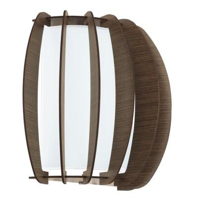 Eglo STELLATO 3 95594 Настенно-потолочный светильникВосточный стиль<br>Бра STELLATO 3, 1X60W (E27), L285, H250, сталь, белый/дерево, стекло, коричневый применяется преимущественно в домашнем освещении с использованием стандартных выключателей и переключателей для сетей 220V.<br><br>Тип цоколя: E27<br>Цвет арматуры: белый<br>Количество ламп: 1<br>Глубина, мм: 140<br>Длина, мм: 285<br>Высота, мм: 250<br>MAX мощность ламп, Вт: 60